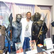 Naseed Gifted, Founder of KhemFest and P.B. Soldier Comic with T'Challa x2 -- CR Sparrow